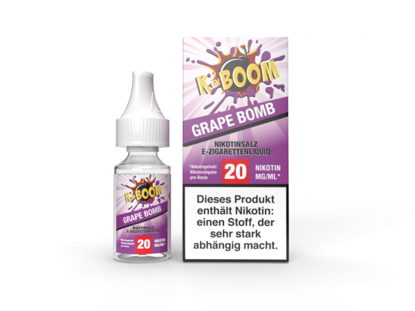 K-Boom Nic Salt 10ml - Grape Bomb 20mg