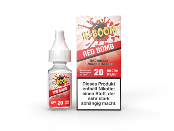K-Boom Nic Salt 10ml - Red Bomb 20mg